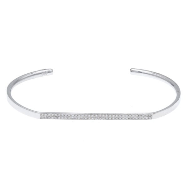 white gold handcuff bracelet