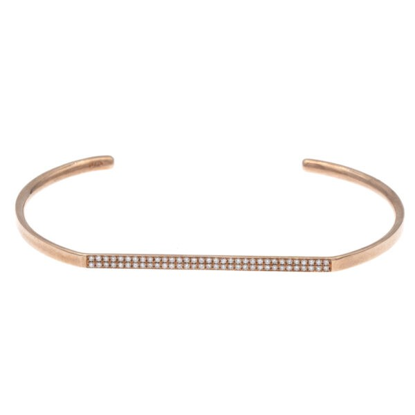 Rose gold handcuff bracelet