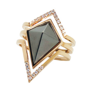 ROSE GOLD PYRAMID RING
