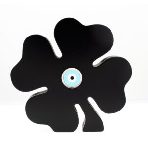 BLACK FOUR-LEAF CLOVER