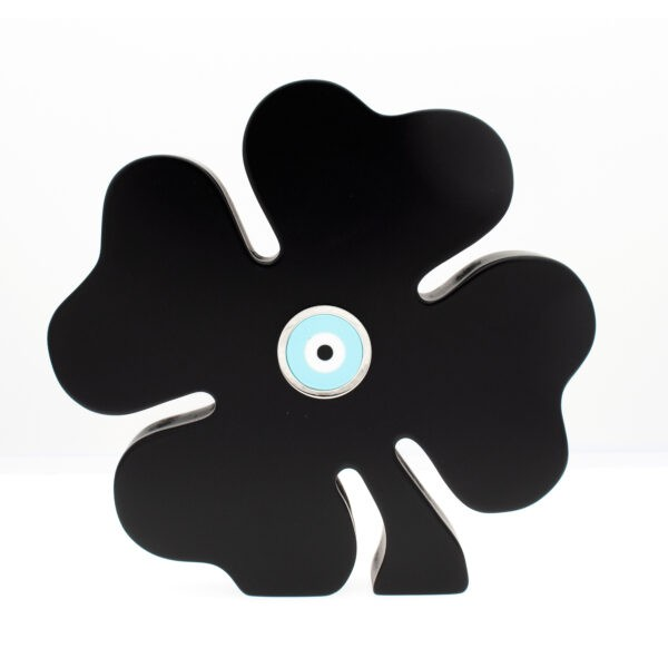 BLACK FOUR-LEAF CLOVER