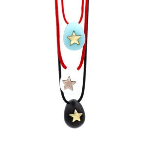CERAMIC STAR EGG NECKLACE