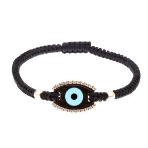 Diamond-ebony-evil-eye-bracelet