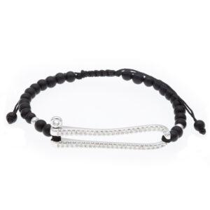 padlock bracelet with 50 diamonds
